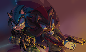 Commission_SonicFoxhound by f-sonic