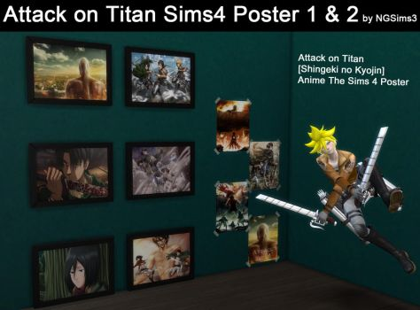 Attack on Titan Sims4(Anime)Poster 1+2 Download by ng9