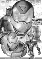 Iron Man Collage by GraphixRob