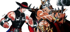 Shao Kahn Vs Kung Lao by MikeES