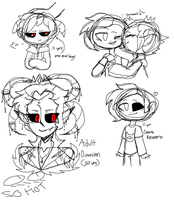 Damien doodles by TheCatQueen10