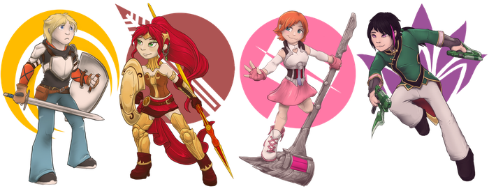 RWBY - Itty Team JNPR by 13blackdragons
