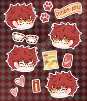 707 Sticker Sheet by aridesunya