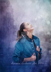 I Love Rain by ThelemaDreamsArt