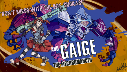 Gaige the Mechromancer by InvaderKeith