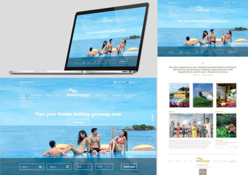 Bintan Lagoon Homepage Design by Chili-icecream