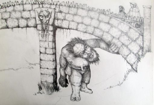 the bridge troll by Eusabyus