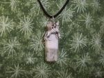 White Wolf Lunar Spirit Pendant Necklace 3 by DaybreaksDawn