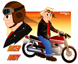 Biker Andy by RoseMary1315