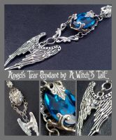 Angel's Tear Pendant by A Witch's Tale by LaceWingedSaby