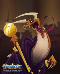 Lord Drezzar holds the Scepter of Judah by FromTheDust
