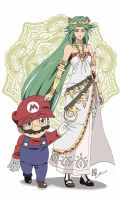 COMM: Mario and Palutena by SkyGiratina00