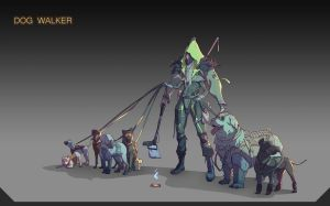 The Dog Walker by Olabukoo