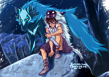 Keith and Space Wolf by TaffyDesu
