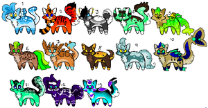 15 point cat adopts (7/13 open) by Sweetnfluffy-adopts