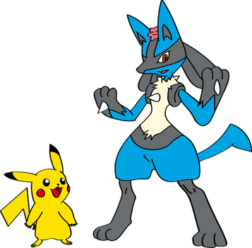 Ash Into Lucario with Sem 2 by TheSuitKeeper89