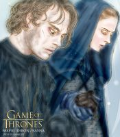 GAME OF THRONES S5E10 FANART : THEON AND SANSA by noji1203