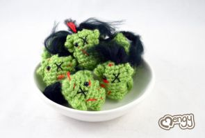 Bowl of Mini Dragon Zombiechus by mengymenagerie