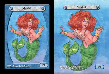 Custom Magic Token #5 - Merfolk by JasonRocket