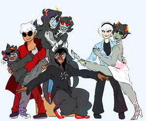 homestuck squad by dongoverlord