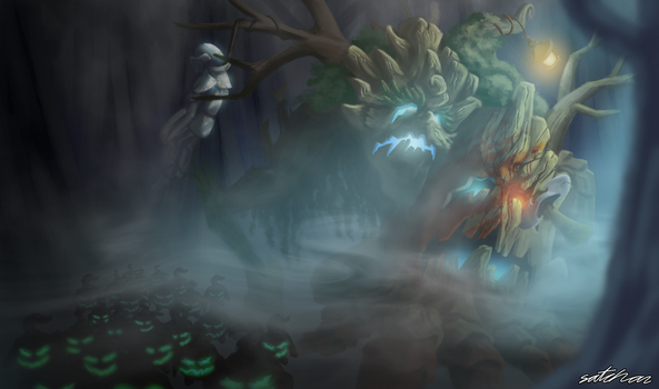 Vengeful Maokai League of Legends Splash Fan Art by SatchanSatchiiSan