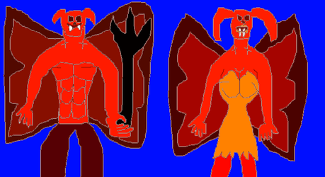 Mr. and Mrs. Mephistopheles (LIB Redesign) by TheSkull31