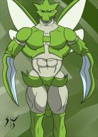 Scyther Beefcake by GoldPaladinSevlow