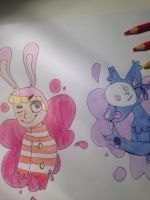 Popee the performer and Kedamono by SourLqmons