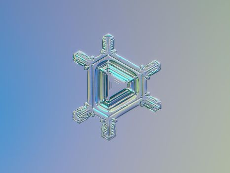 Real snowflake macro photo - Emerald by ChaoticMind75
