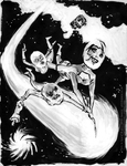 Girls in Space guest art by smbhax