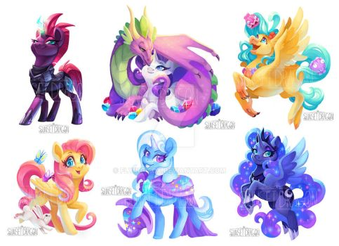 MLP Stickers by Flying-Fox