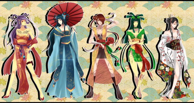 The 5 Goddess by Eternal-S