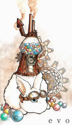 Steampunk Bunny by inkloose