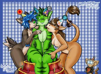 Lesbian Birthday Party by skifi