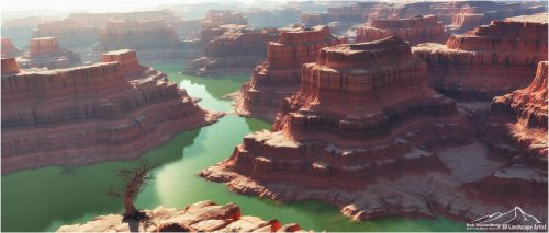 Canyon River by 3DLandscapeArtist