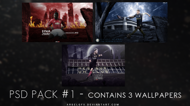 PSD Pack #1 // ArselGFX by ArselGFX