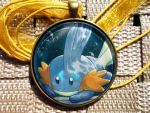 Contest + Giveaway ~ Mudkip Star Holo Card Pendant by BlackManaBurning