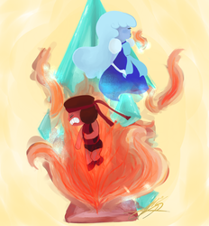Ruby and Sapphire by Julie947