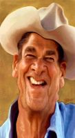 Ronald Reagan by wooden-horse