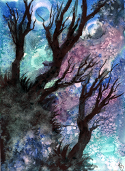 World Watercolor Month #9 - Climbing Mountains by Kizzy-i-Keinstein