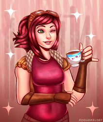 [Commission] Tea Time Cee Cee by ROGUEKELSEY