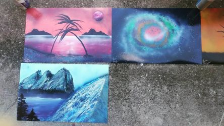 Result From My Live Stream Spray Paint Art Part1 by PlaidNGlasses