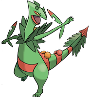 Mega Sceptile by sicklequill8384