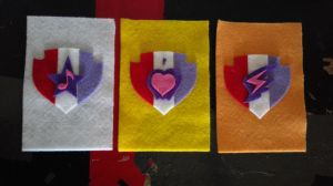 Cutie Mark Crusaders Cutie Mark Felt Patches by steeph-k