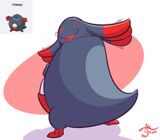 Pokemon Fusion - Vilesey by cavemonster