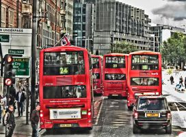 Busy street - London UK by UdoChristmann