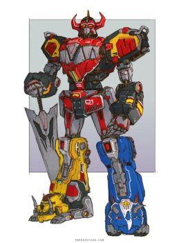 Power Rangers Megazord by emersontung