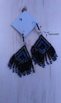 beaded earrings by Damned-at-birtH