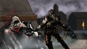 Quake Ranger vs Shambler by Helios437