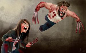 Logan and Laura (x23) by Marxl